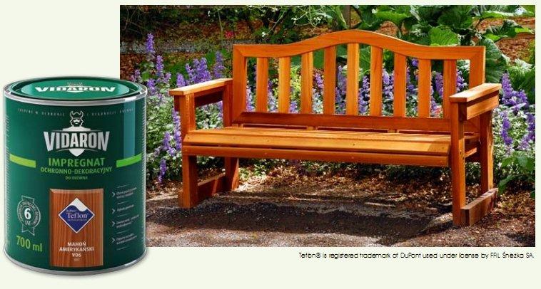 Długotrwałą ochronę drewna zapewnia Impregnat Ochronno-Dekoracyjny VIDARON