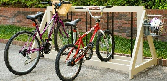 Przydomowy stojak na rowery