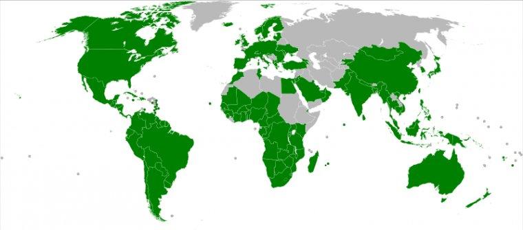 Kraje członkowskie Światowej Organizacji Handlu