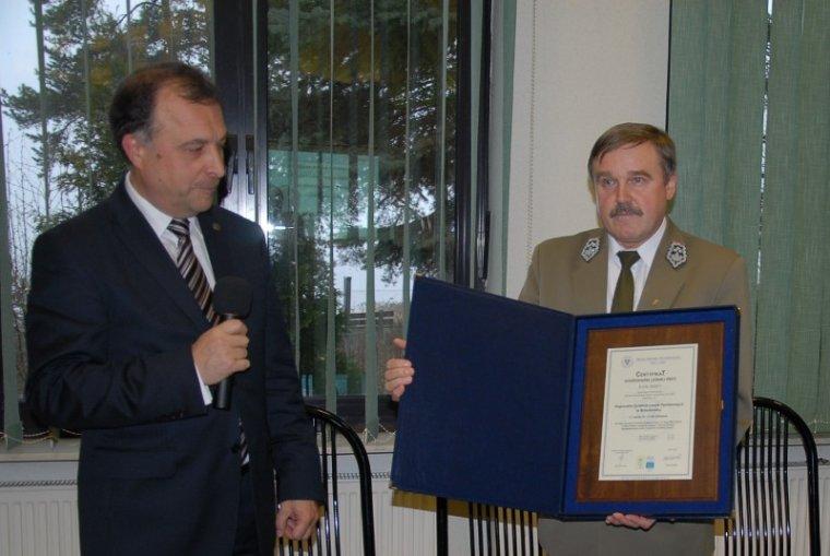 Wręczenie certyfiaktu PEFC