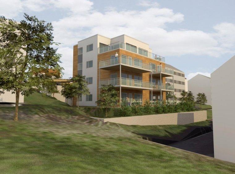 Przykład realizacji budynku modułowego w Alesund (wizualizacja)