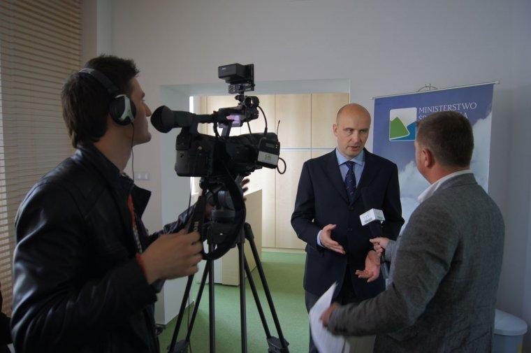 Minister Środwiska Marcin Korolec