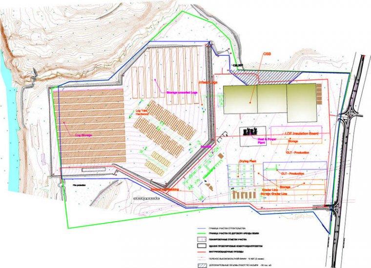 Plan generalny zakładu budowanego przez WoodinterKom