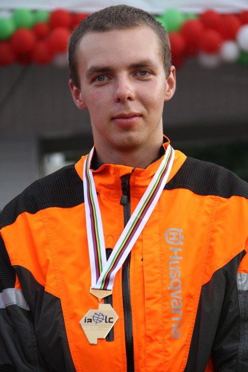 Adam Wawrzak - Mistrz Świata Drwali 2012 w Ścince drzew