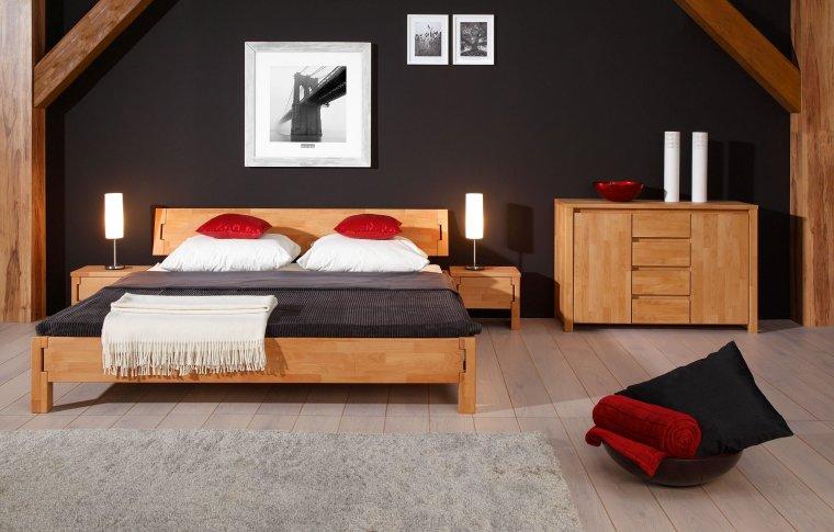 Kolekcja Koli to mebli do sypialni z litego drewna dostępna w ofercie Beds.pl