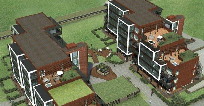 Wizualizacje budynków realizowanych w ramach projektu Grilstad Park B3