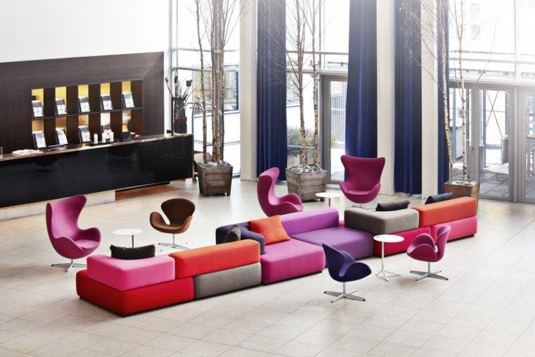 Przykład realizacji: Alphabet Sofa by Piero Lissoni, Hotel Skt. Petri, Kopenhaga