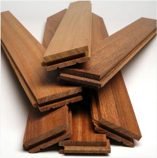Deszczułki parkietowe z drewna cumaru