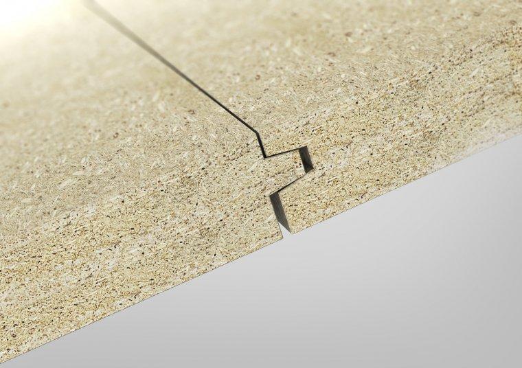 Frez krawędzi pióro-wpust ukształtowany jest w taki sposób, by między płytami powstawała szczelina dylatacyjna.