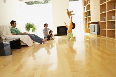 Piękno podłogi drewnianej