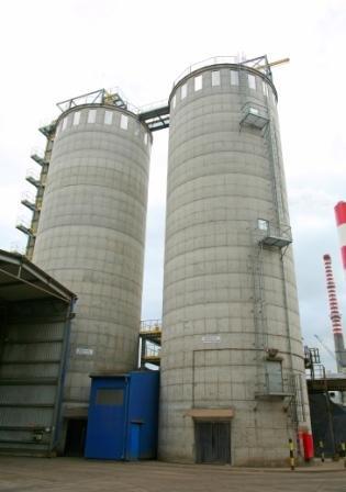 Elektrociepłownia Sekierki: silosy na pellet