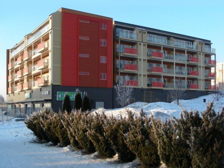 Osiedle Odelsvegen Nord I w Jessheim koło Oslo / Norwegia wybudowane przez Unibep w technologii modułu szkieletowego