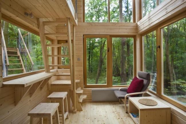 Projekt Wnętrza hotelu W Drzewach w Nałęczowie autorstwa Piotra Jakubowskiego.