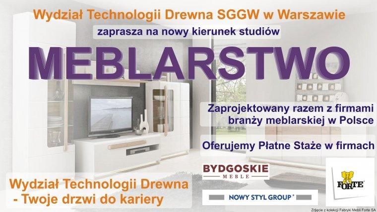 Meblarstwo - nowy kierunek na WTD SGGW