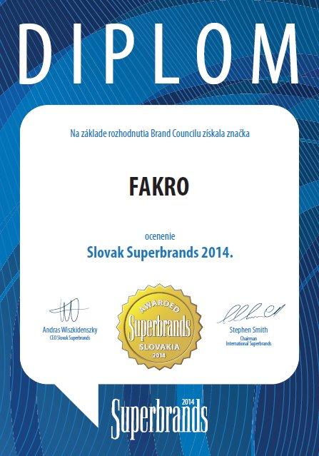 Fakro: Słowacka nagroda Superbrands 2014