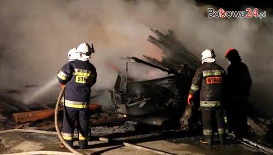 Pożar tartaku w Owczarach k. Gorlic