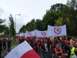 Protest przedsiębiorców leśnych w Szczecinku 31.07.2015