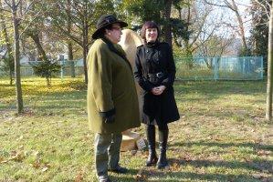 Uroczyste otwarcie wystawy w parku Kampusu Cieszkowskich