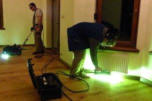Proces utwardzania lakieru za pomocą urządzeń HID Bulldog i Mako
