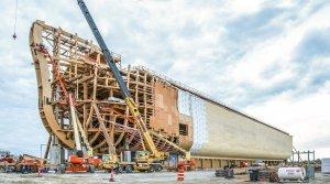 Arka podczas budowy
