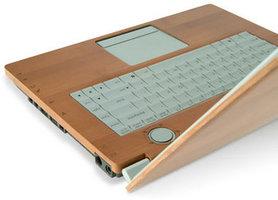 <font color=gray>Laptop z obudową z drewna <br>bambusowego firmy Asus</font>
