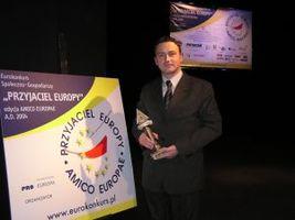 Nagrodę w imieniu firmy odebrał M. Janke