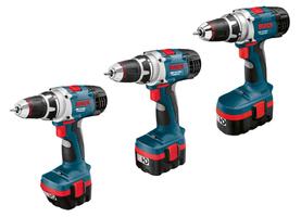 """Nowe, akumulatorowe <br>wiertarko-wkrętarki<br> serii Heavy Duty<br>""""Fot.: Bosch"""""""