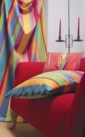 W sezonie 2006 modne<br>tkaniny meblowe będą miały<br>kontrastowe kolory i prążki<br>Fot: VdHI