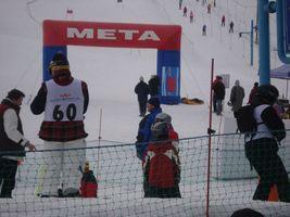 Widok na trasę slalomu