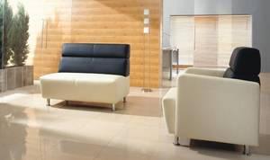 Sofa i fotel z zestawu modułowego CODE firmy Dziedzic