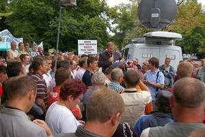 Sławomir Wrochna, Przewodniczący Komitetu Protestacyjnego, przedstawia żądania drzewiarzy