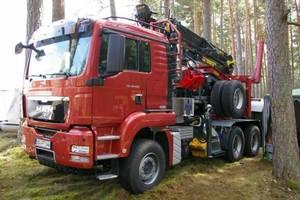 Zestaw do transportu drewna MAN