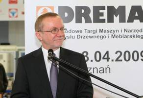 Prezes Trawa otwiera targi Drema