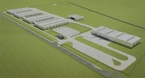 Wizualizacja projektu fabryki w Partizánske