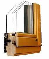 Okno drewniano-aluminiowe THERMO 80-ALU+