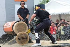 Podczas targów Ligna odbywały się zawody Stihl Timbersport Series