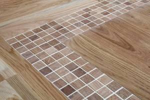 Przykład aranżacji z wykorzystaniem mozaiki Dunin ETN!K - element dekoracyjny podłogi