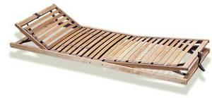 Komfortowy stelaż ze elastycznych listw bukowych, szczególnie polecany do materacy lateksowych i kieszeniowych. Większa ilość listewek zapewnia bardzo dokładne rozłożenie ciężaru, dzięki czemu materac lepiej dopasowuje się do naturalnych kszta