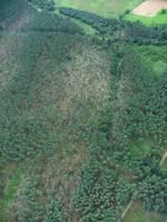 Zdjęcie lotnicze pokazujące rozmiar szkód