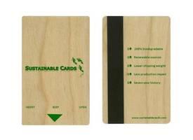 Drewniane karty z paskiem magnetycznym