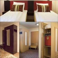 Wnętrze pokoju hotelu Helsfyr