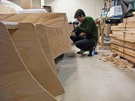 Drewniane podium wykonali stolarze z Vancouver