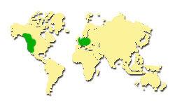 Zasięg występowania Daglezji zielonej