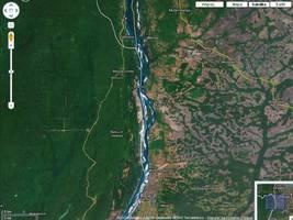 Z lewej strony las gospodarowany racjonalnie, z prawej rabunkowo