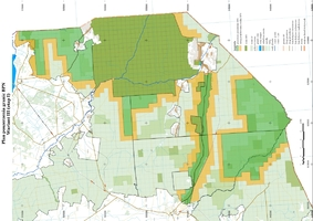 Planowany zakres poszerzenia Białowieskiego Parku Narodowego