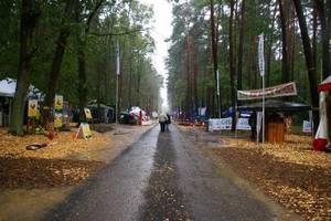 Dzięki dobremu przygotowaniu terenu, mimo ulewnego deszczu, nie było problemu ze zwiedzaniem ekspozycji