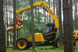 Pokazy pracy harvestera Highlander z oferty firmy Konrad Forsttechnik.