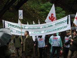 Manifestacja leśników przed URM w Warszawie 29.09.2010r.