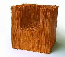 Siedzisko - SIE9, 1994, trzcina, sznurek, klej, 100x100x100 cm