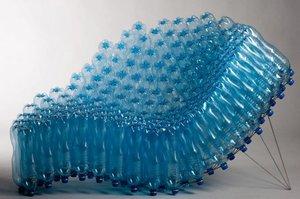 Siedzisko - SIE43, 2009, stal kwasoodporna, butelki PET 150x80x90 cm